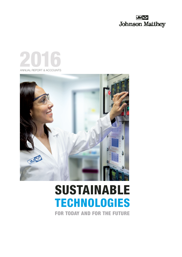 Johnson Matthey   annual report