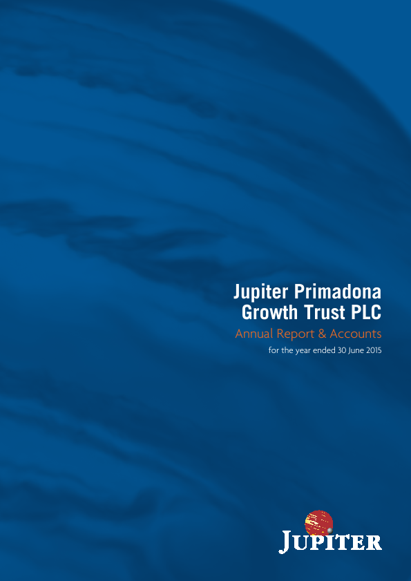 Jupiter Global Trust (formally Jupiter Primadona Growth Trust)   annual report