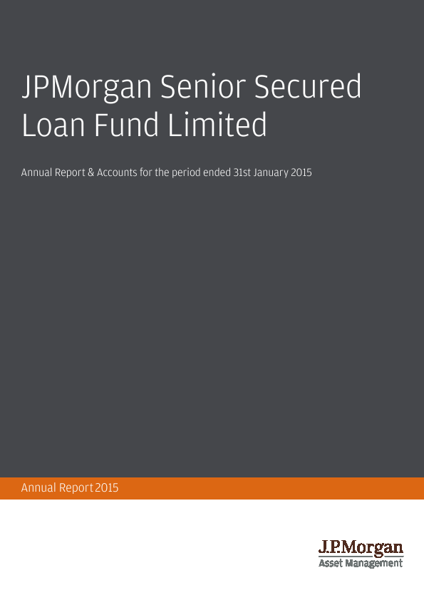 JP Morgan Senior Secured Loan Fund   annual report