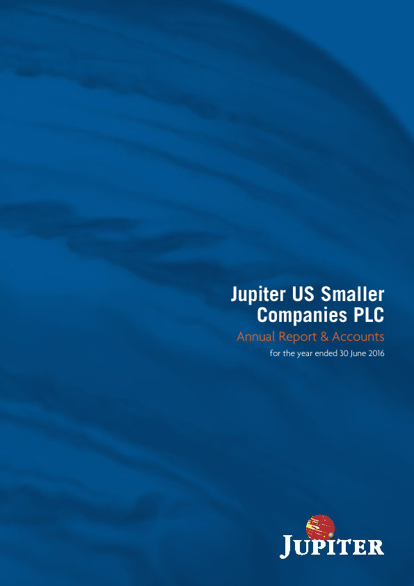 Jupiter US Smaller Companies Plc   annual report