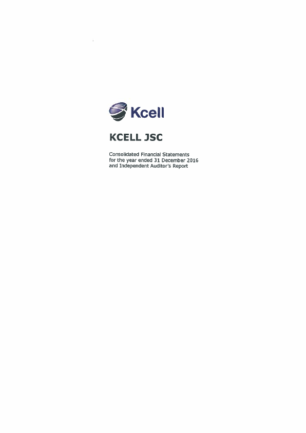 Kcell JSC   annual report