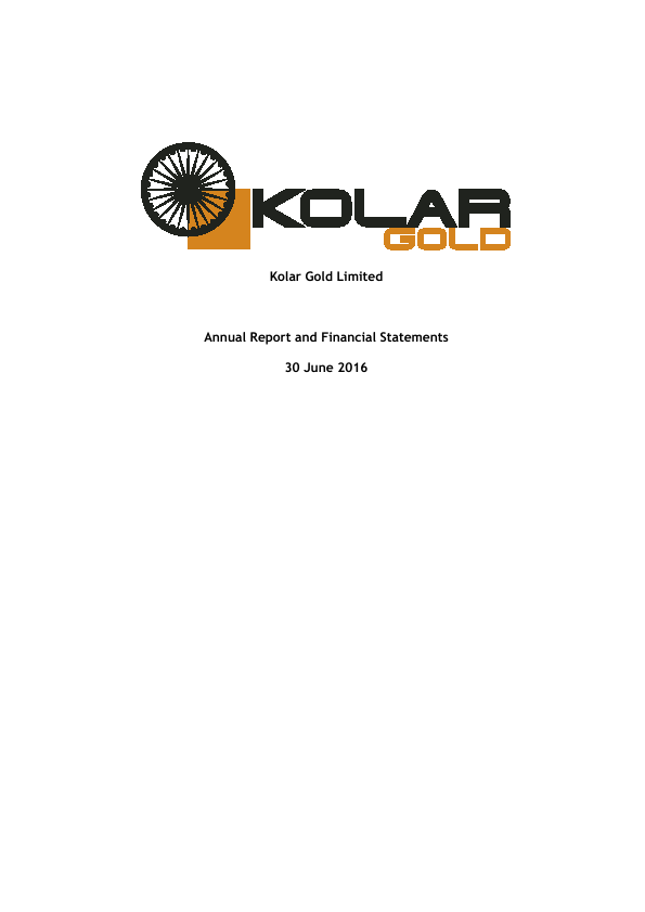 Lionsgold (previously Kolar Gold)   annual report