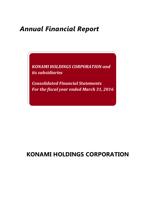 Konami Holdings Corp   annual report