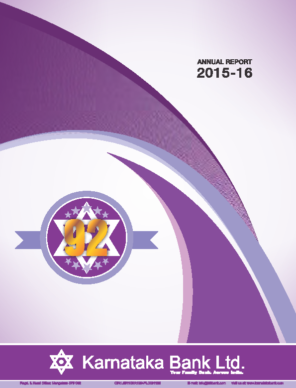 Karnataka Bank   annual report
