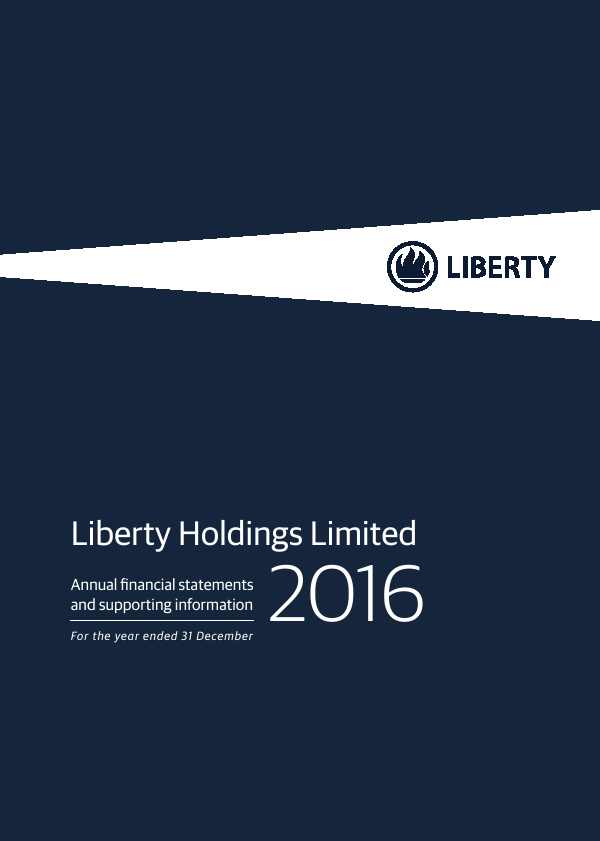 Liberty Holdings   annual report