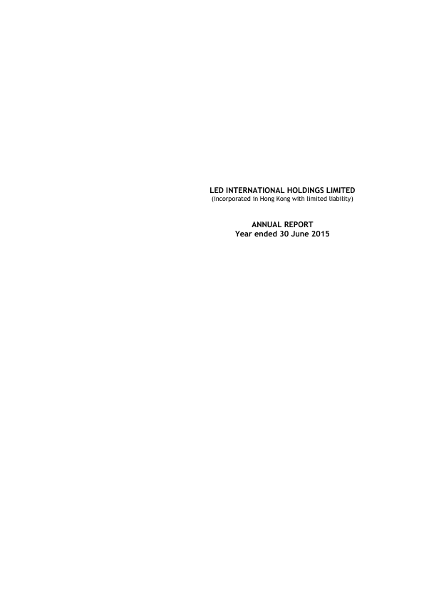 Led International Holdings   annual report