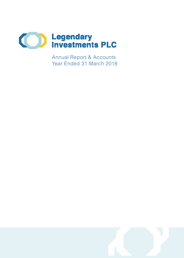 Legendary Investments   annual report