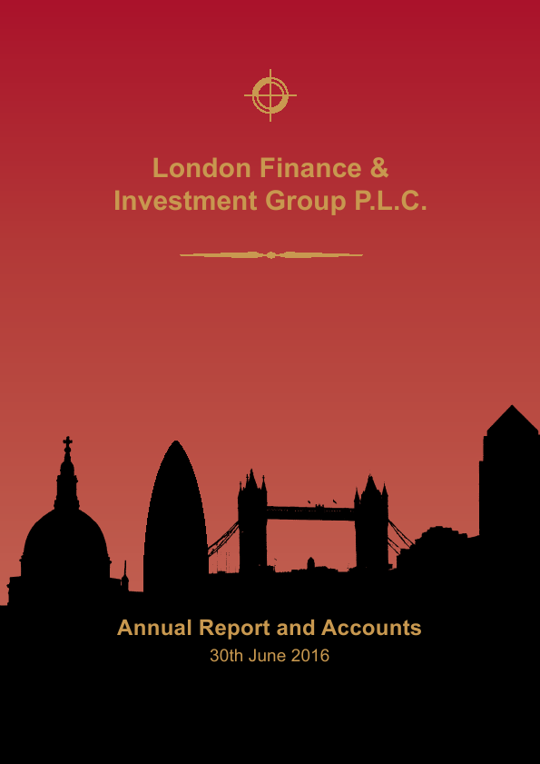 London Finance & Investment Group   annual report