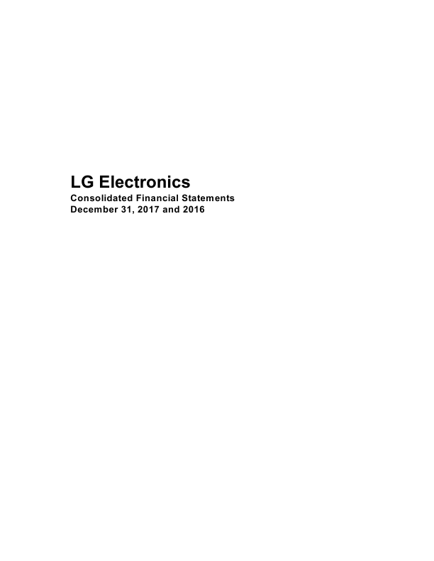 LG Electronics Inc   annual report