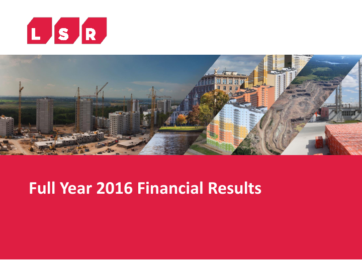 LSR Group PJSC   annual report
