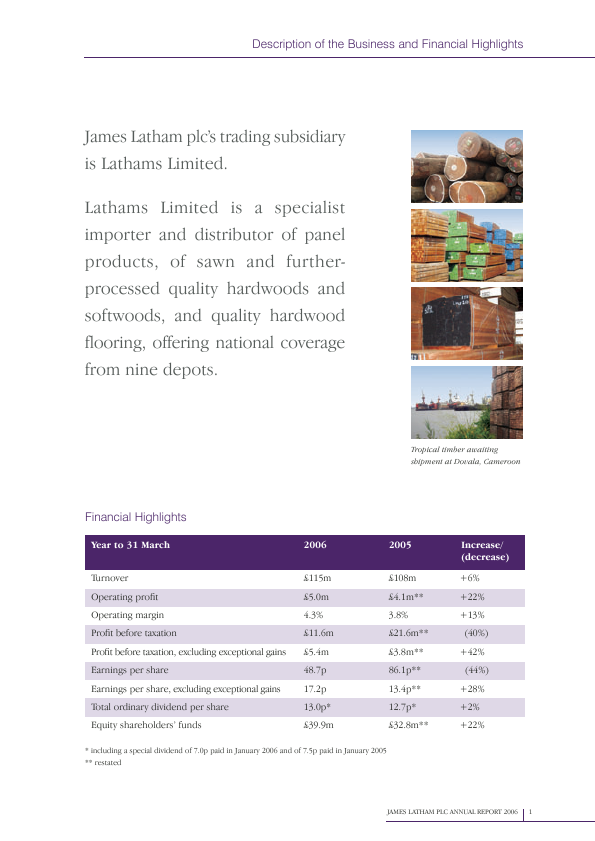 Latham(James)   annual report