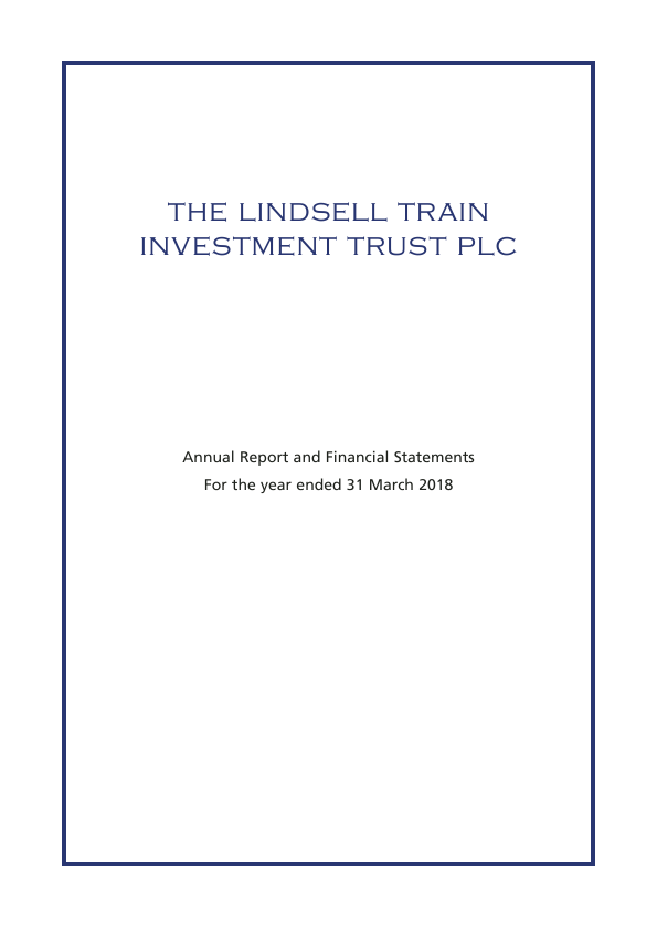 Lindsell Train Investment Trust(The)   annual report