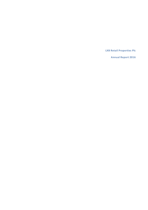 LXB Retail Properties Plc   annual report