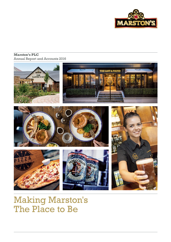 Marstons Plc   annual report