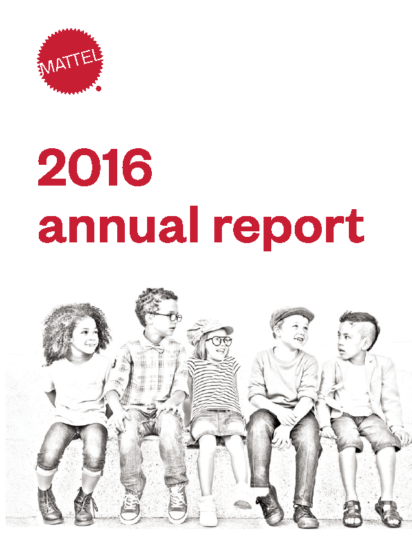 Mattel, Inc.   annual report