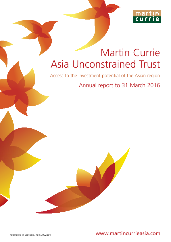 Martin Currie Asia Unconstrained Trust   annual report