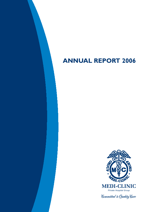 Mediclinic International   annual report