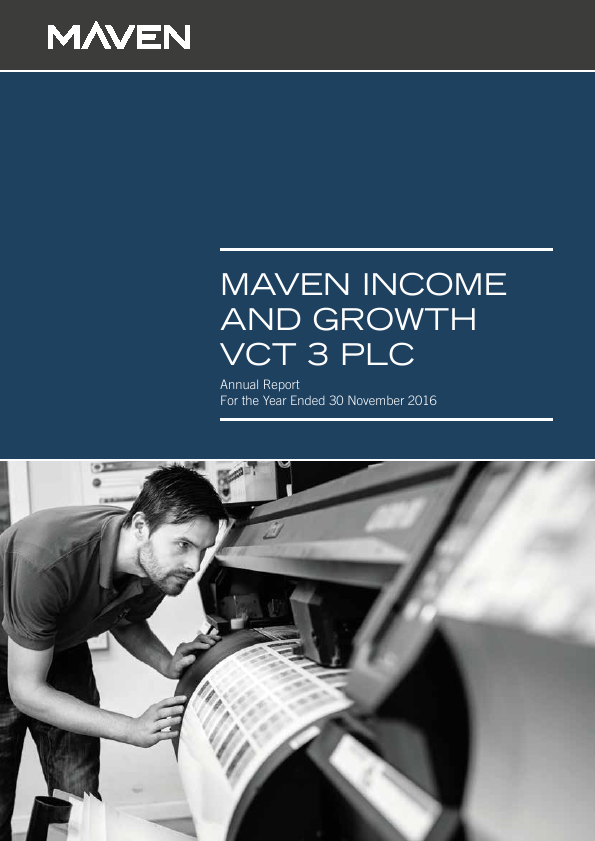 Maven Income & Growth VCT 3 Plc   annual report