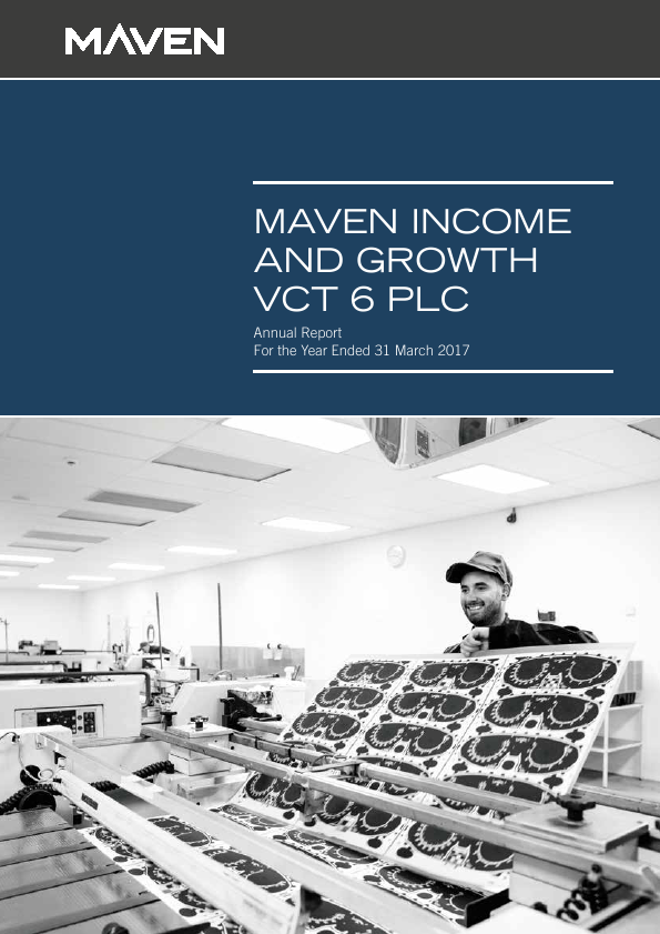 Maven Income & Growth VCT 6 Plc   annual report