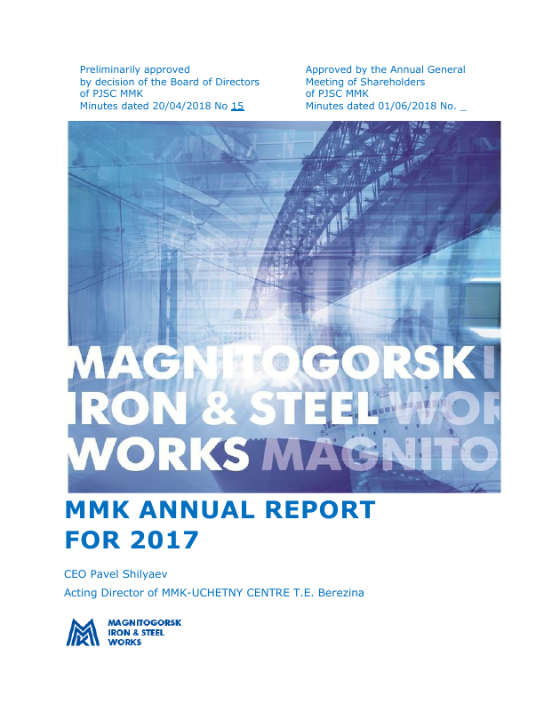 Magnitogorsk Iron & Steel Works   annual report