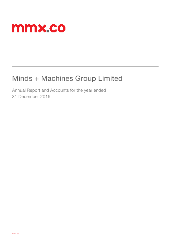 Minds + Machines Group Ltd   annual report