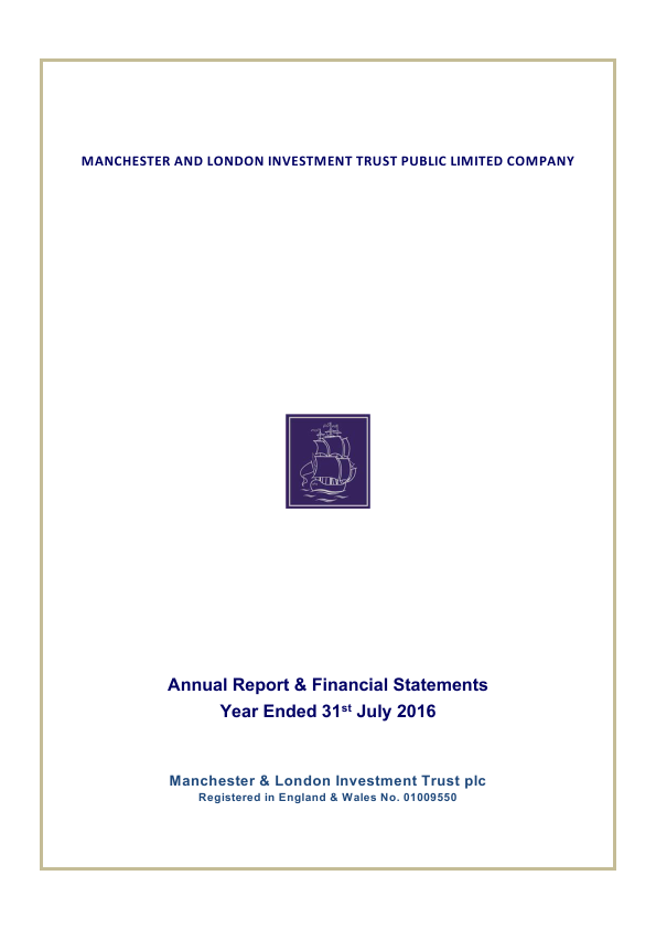 Manchester & London Inv Trust Plc   annual report