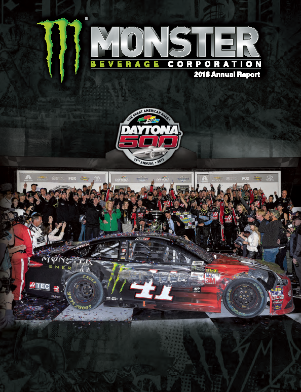 Monster Beverage Corporation   annual report