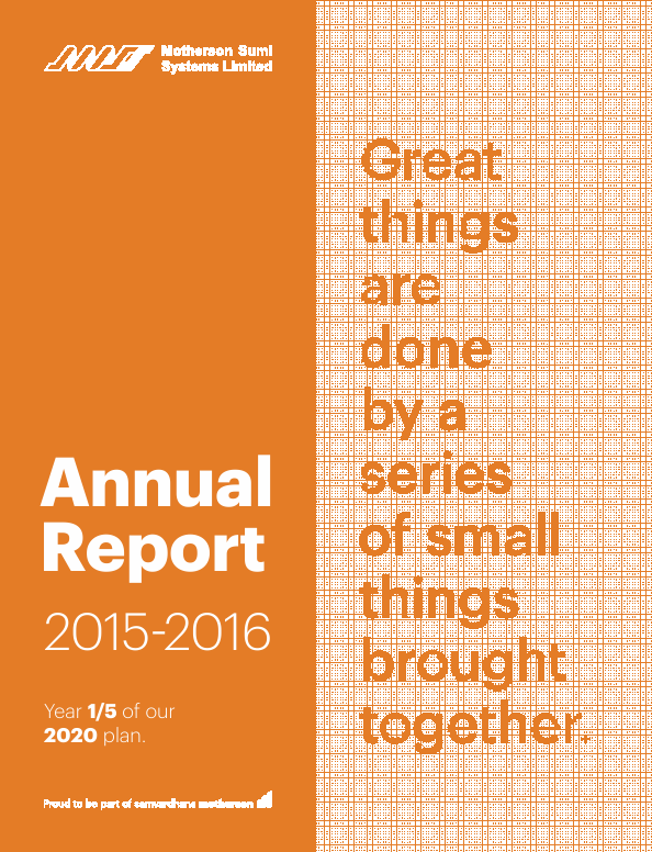 Motherson Sumi Systems   annual report