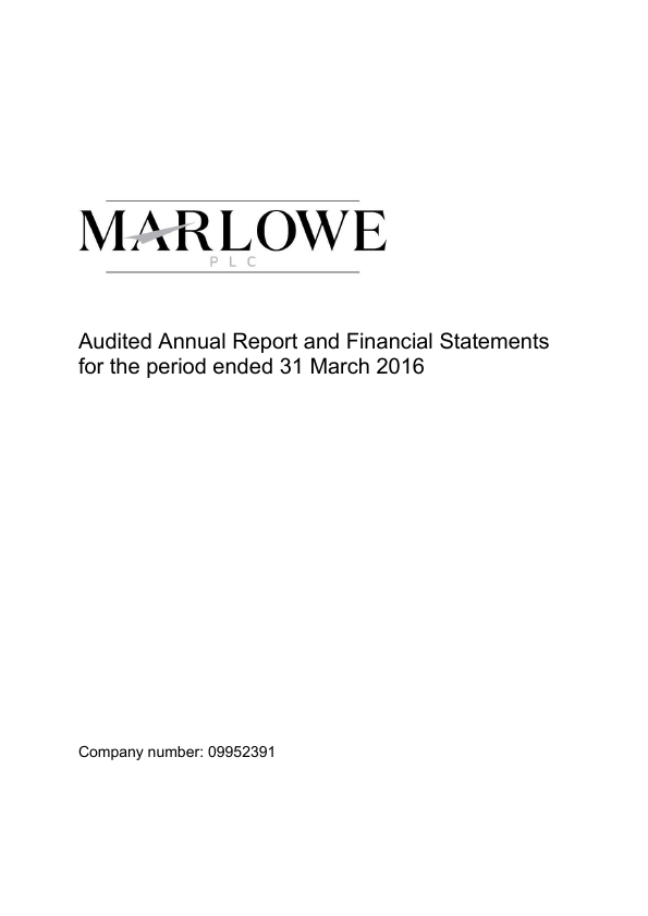 Marlowe Holdings   annual report