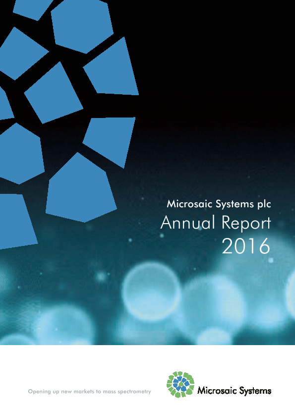 Microsaic Systems Plc   annual report
