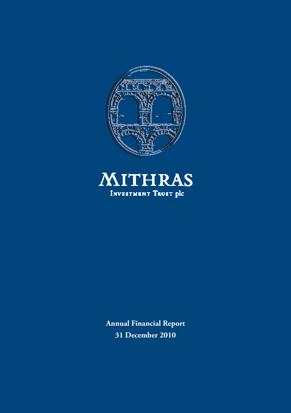 Mithras Investment Trust   annual report