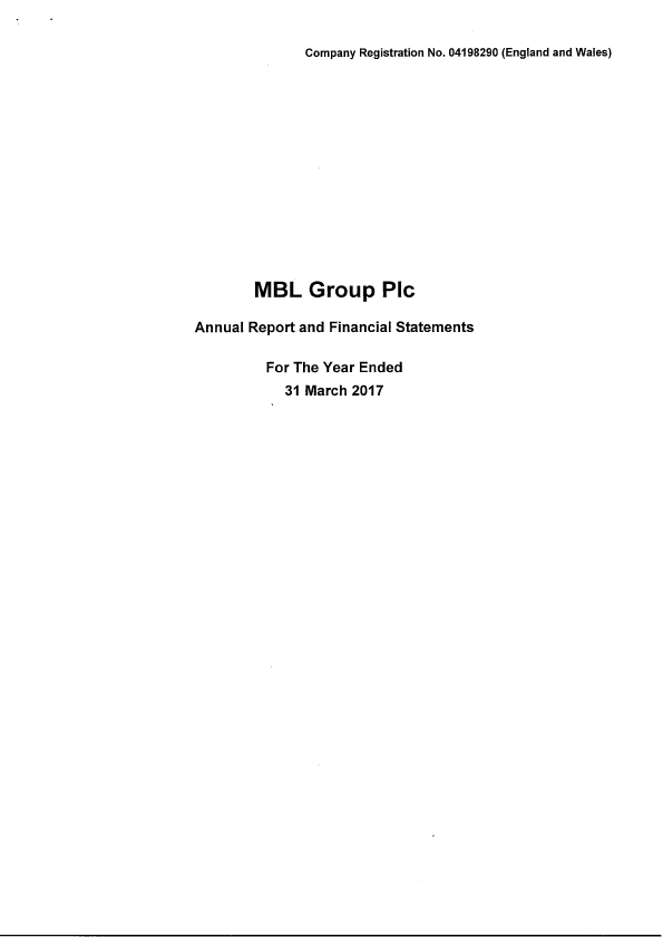 MBL Group Plc   annual report