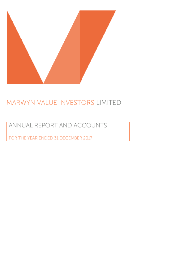 Marwyn Value Investors   annual report