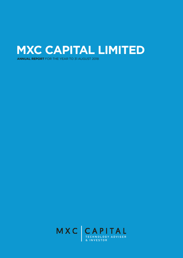 MXC Capital   annual report