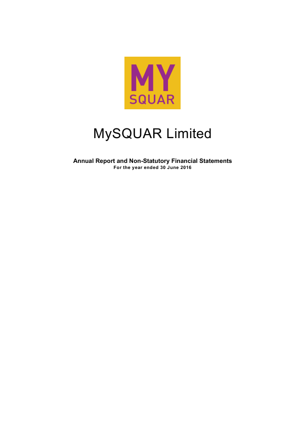 Mysquar Ltd   annual report