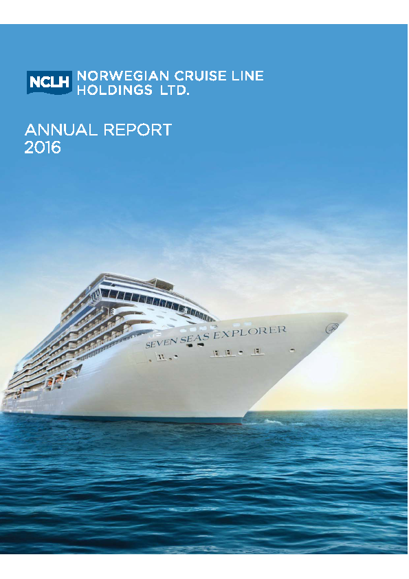 Norwegian Cruise Line Holdings .   annual report