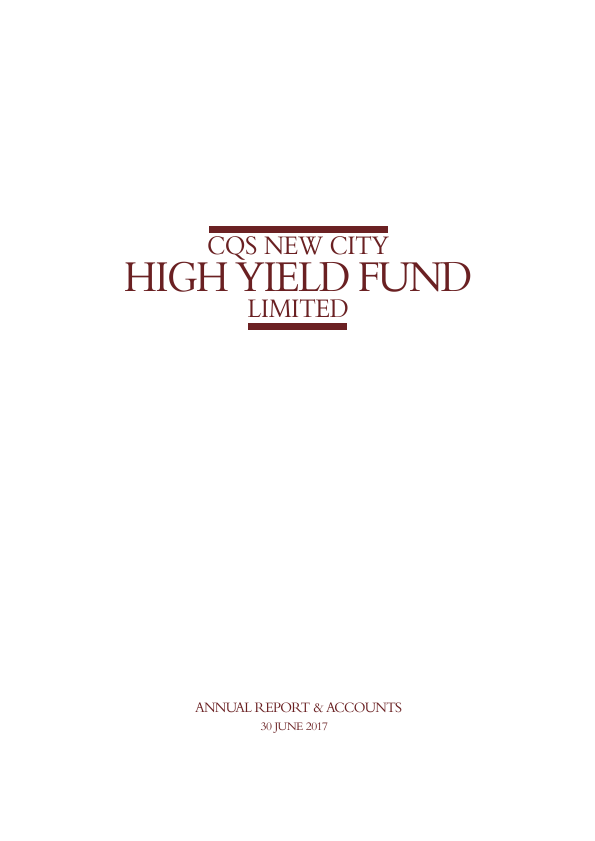 CQS New City High Yield Fund   annual report