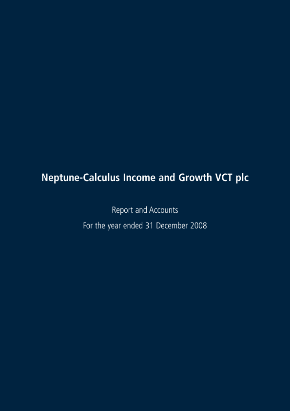 Neptune-calculus Income&growth VCT   annual report