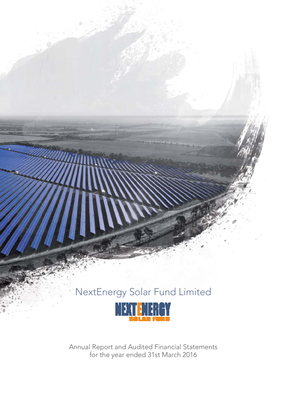 Nextenergy Solar Fund   annual report