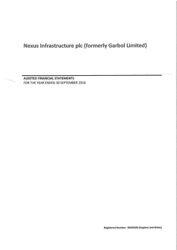 Nexus Infrastructure   annual report