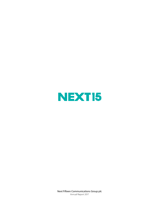 Next Fifteen Communications Group   annual report