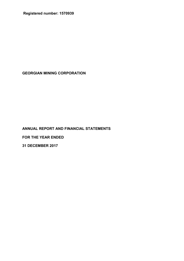 Georgian Mining Corporation (previously Noricum Gold)   annual report
