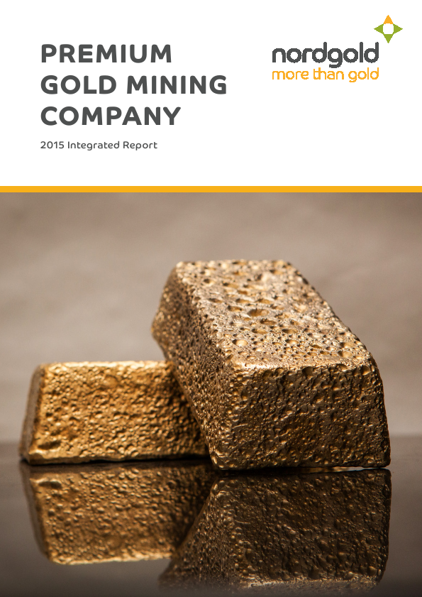 Nord Gold NV   annual report