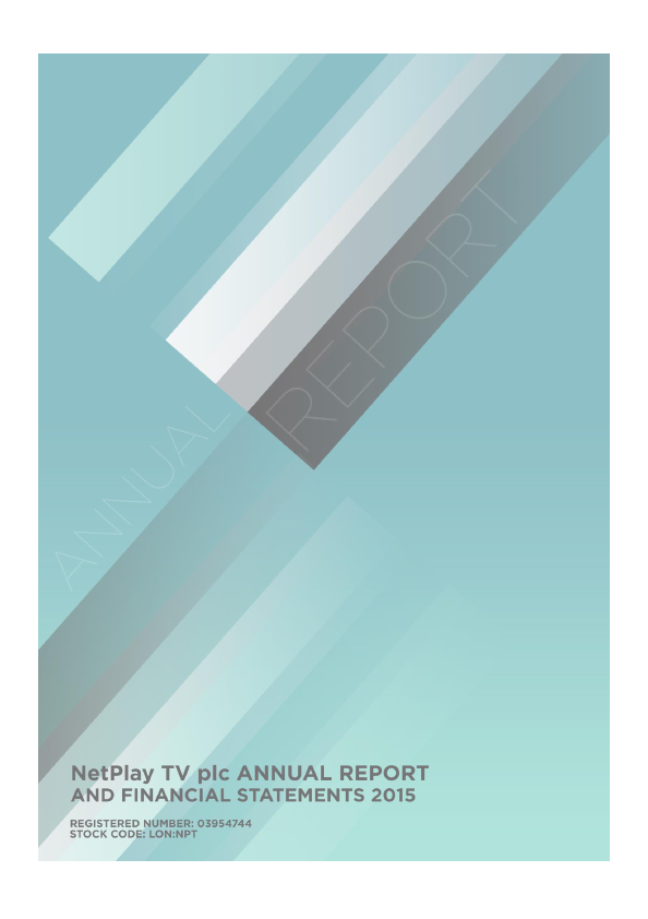 Netplay TV Plc   annual report