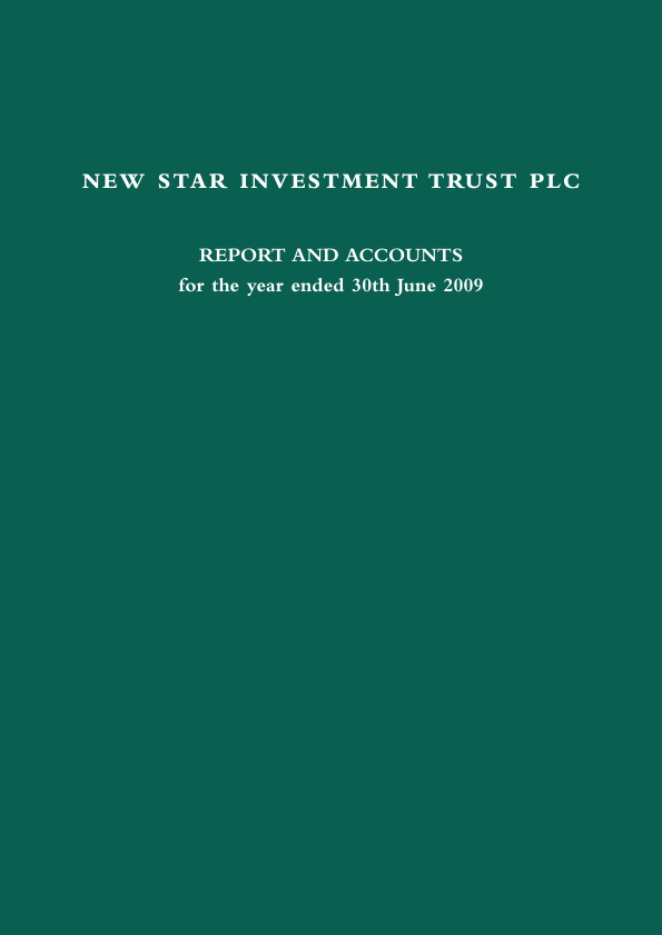 New Star Investment Trust   annual report