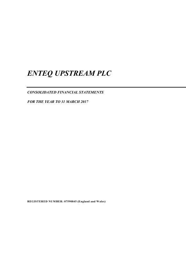 Enteq Upstream Plc   annual report