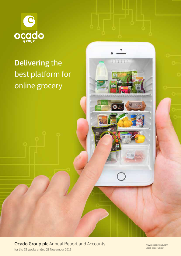Ocado Group Plc   annual report