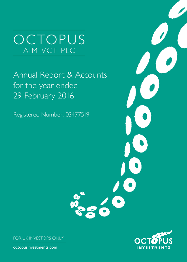 Octopus Aim VCT Plc   annual report