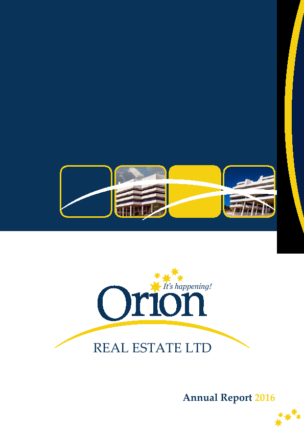 Orion Real Estate   annual report