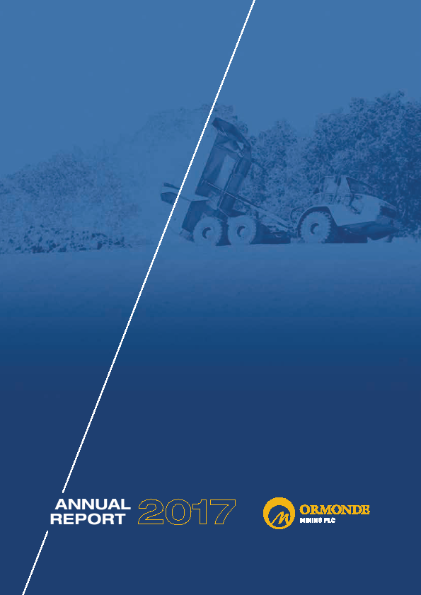 Ormonde Mining   annual report